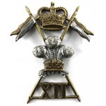 12th Royal Lancers E11R Bi Metal Cap Badge