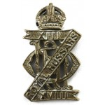 13/18th Hussars Brass Cap Badge