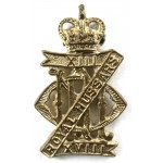 13/18th Hussars E11R Brass Cap Badge