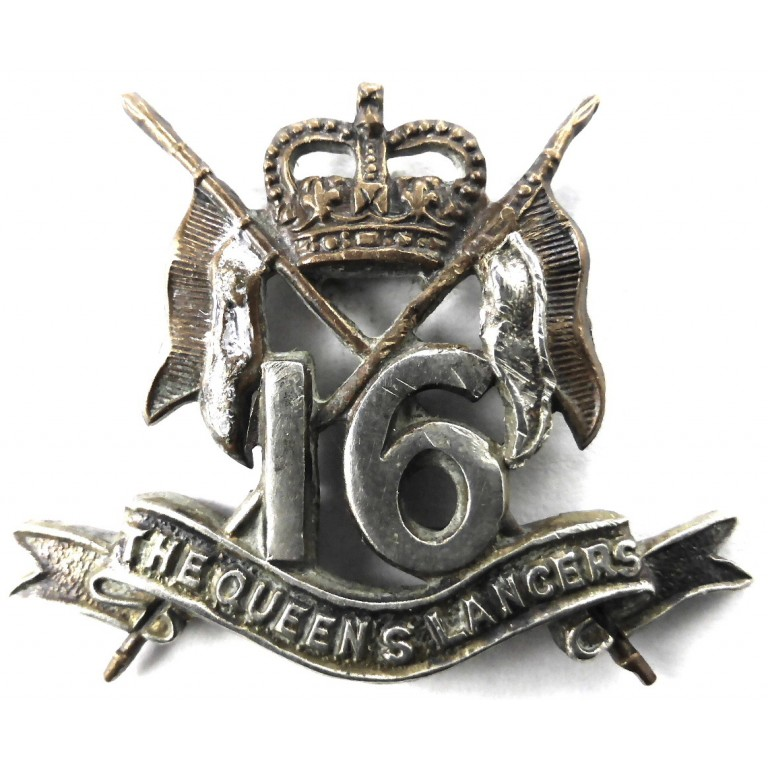 16/5th The Queens Lancers E11R Beret Badge Bi Metal