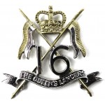 16/5th The Queens Lancers E11R Bi Metal Cap Badge