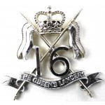 16/5th The Queens Lancers E11R Anodised Aluminium Cap Badge