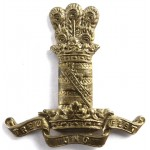11th Hussars Brass Cap Badge