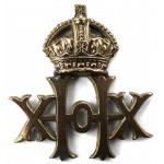 20th Hussars Brass Cap Badge