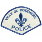 Canada Ville De Rosemere Police Cloth Patch