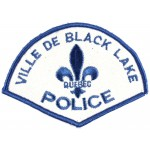 Canada Ville De Black Lake Police Cloth Patch