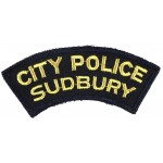 Canada City Of Sudbury Police Cloth Patch