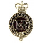 Household Cavalry Officers Gilt/Enamel Cap Badge