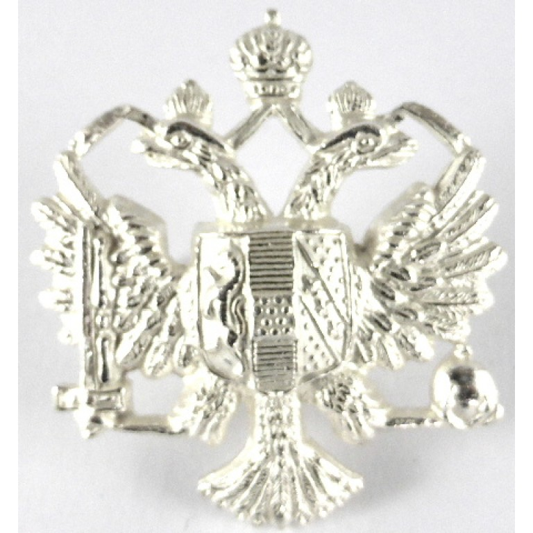 1st Queens Dragoon Guards Officers Silver Plated Cap Badge