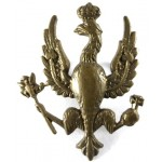 14/20th Kings Hussars Brass Cap Badge