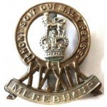 15/19th Hussars Officers Silver/Gilt/Enamel Cap Badge