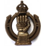 Royal Armoured Corps WW2 Plastic Economy Cap Badge