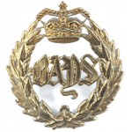 2nd Dragoon Guards (Bays) Victorian Brass Cap Badge