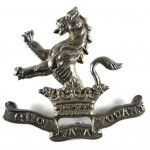 7th Dragoon Guards Officers Silver Plated Cap Badge