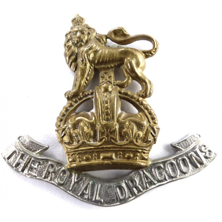 1st Royal Dragoons Bi Metal Cap Badge