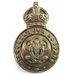 7th Queens Own Hussars All Brass Cap Badge