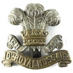 10th Royal Hussars Bi Metal Cap Badge