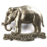 19th Alexandra P.W.O Extremely Rare White Metal Cap Badge
