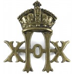 20th Hussars Victorian Brass Cap Badge