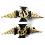 Royal Air Force Chaplains Silver/Gilt Collar Badges