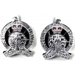 Army Legal Corps Officers White Metal Collar Badges