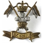 9/12th Lancers Officers Silver/Gilt Collar Badge