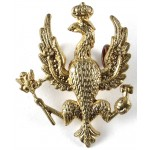 14th Kings Hussars Brass Collar Badge