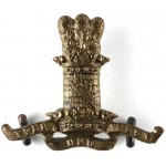 11th Hussars Brass Collar Badge