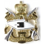 Heavy Cavalry Cambrai Band Silver/Gilt Collar Badge
