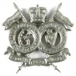16/5th Lancers E11R White Metal Collar badges