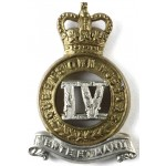 4th Queens Own Hussars E11R Bi Metal Collar Badge
