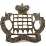 Royal Gloucestershire Hussars Brass Collar badge