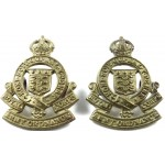 Royal Army Ordnance Corps Brass Collar Badges