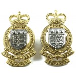 Royal Army Ordnance Corps Officers Silver/Gilt Collar Badges