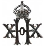 20th Hussars Brass Collar Badges