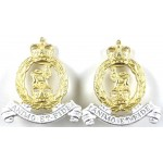 Adjutant Generals Corps Pair Bright Plated Collar Badges