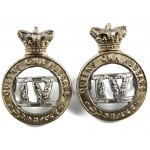 4th Queens Own Hussars Victorian Pair Of Collar Badges