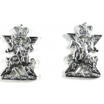 The Scottish Yeomanry Pair Of Anodised Aluminium Collar Badges