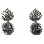 Lancashire Fusiliers Officers Bronze Collar Badges