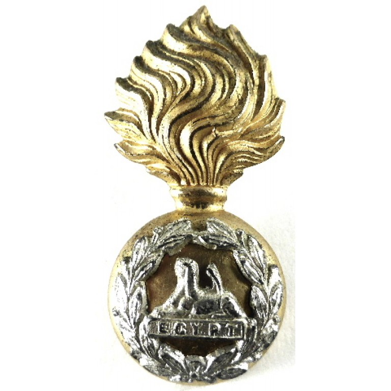 Lancashire Fusiliers Officers Silver/Gilt Plated Collar Badge