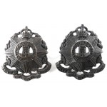 10th London Hackney Officers Bronzed Collar Badges