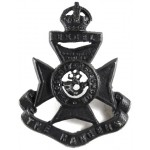 12th London The Rangers Blackened Collar Badge