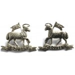 22nd London The Queens White Metal Collar Badges