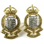 Royal Army Ordnance Corps Officers Sil/Gilt Collar Badges