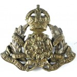 Derbyshire Imperial Yeomanry Officers Sterling Silver Collar Badge