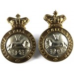 5th Dragoon Guards Victorian Bi Metal Collar Badges