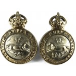 5th Dragoon Guards  Bi Metal Collar Badges