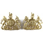 General Service Corps Officers Gilt Collar Badges