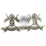 9th Lancers Pair Of White Metal Collar Badges