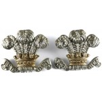 10th Hussars Pair Of Bi Metal Collar Badges